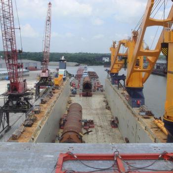 Loading onto Barges - USA