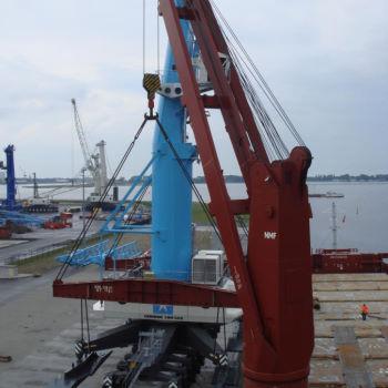 Loading cranes in Rostock